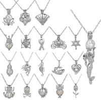 Cage Pendentif Collier 2019 nouvel amour souhaits perle naturelle avec un mélange Oyster perle design creux mode Médaillon Clavicule Collier de chaîne