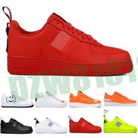 OFF White x Nike Air Force 1 OW 2020 HOT 1 Off MCA Bleu Blanc Rouge Argent métallisé Hommes Chaussures Casual Volt 2.0 Low noir et vert Designer Shoes 36-45 Sans boîte Z81