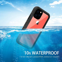 방수 케이스 충격 방지 먼지 방지 커버를 들어 아이폰 11 PRO 11 PRO MAX XS XR XS MAX IP68 수영 50PCS / LOT를 Redpepper