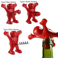 New 7. 5*8cm Happy Red Man Corkscrews Beer Openers Plugs Bar ...