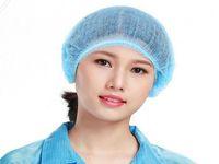 Disposable cheveux Net Cap non tissé douche Caps anti-poussière Chapeau autobronzant de tête Couverture