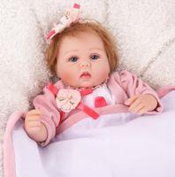 Baby reborn Puppen 16 Zoll Prinzessin Vinyl Naturgetreue Realistische Silikon-Puppen Baby-reizende neue Baby-freies Verschiffen