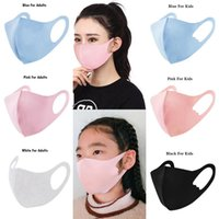 Ice Silk Mask Adults Kids 5 Colors Washable Anti Dust Face M...