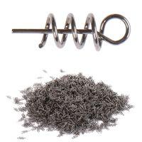 100pcs / lot Pêche Crochet Soft Bait Bait Spring Pinçage Pins fixes Loquet Spring Spring Twist Twist Serrure pour loquet Soft Leur