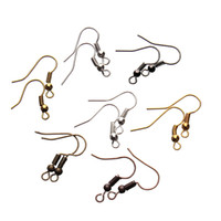 100 teile / beutel Ohrring Haken Splitter Gold Farbe Metall Messing Typ für Schmuck Maing DIY ZYG-1