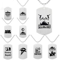 Fortnite Pendant Necklace Black Stainless Steel Hot FPS Game...