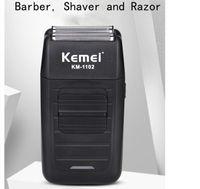 erkekler yüz bakımı çok işlevli tıraş makinesi erkek güçlü barbeador için Kemei KM-1102 şarj edilebilir Tıraş Makinesi