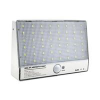 1PCS مصباح للطاقة الشمسية 48LED ماء الجدار سبائك الألومنيوم الجسم مصباح التعريفي مصباح الفناء