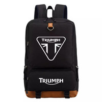 triumph motorcycle backpack Men women' s boy Student Sch...