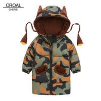 Croal Cherie 80-120см Детские детские зимние куртки для девочек-подростков теплые зимние детские Parkas для мальчиков камуфляж младенческий пальто