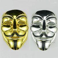 Маска Косплей Movie Stars Party Stage маска ПВХ Хэллоуин V Слово Гальваника Unisex