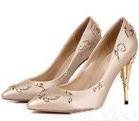 Yeni eden topuk parti Pompaları Sığ Sivri Burun Ince Topuklu Yeni Düğün gelin yüksek topuklu Ayakkabı aksesuarları Tasarımcısı Kadın Ayakkabı