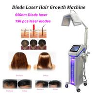 Nuovo 650nm 190 diodo 5 mW anti perdita di capelli laser macchina di crescita dei capelli con Elettrico Spazzola di perdita di capelli