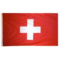 Aerlxemrbrae bandeira suíça 100% Poliéster Suíça Bandeira 3x5 ft 90 X 150CM