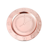 30cm Placas Relógio Pratos Stainless Steel House Kitchen Bandeja criativa Número Rose Gold Louça 10 73hf UU