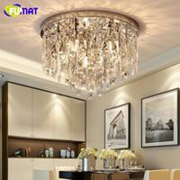 Fumat Crystal K9 прозрачные потолочные светильники Moder Style Lighting круглая форма E14 столовая гостиная роскошный подвесной светильник