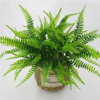 42 centímetros 7Fork Artificial persa folha da planta Falso Muito realista plástico fundo do casamento decoração Lysimachia Fern decoração floral