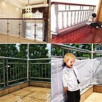 De gran tamaño Safety 1st RailNet Protección de red cabritos del niño del bebé de la escalera Balcón Puerta Puertas de malla o 200x75cm 300X75cm
