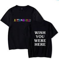 Designer New Fashion Hip Hop Tshirt Uomo Donna Travis Scotts ASTROWORLD Harajuku T-Shirt DESIDERA SEI QUI Stampa lettere T Top