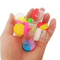 Glasflasche mit Silikonabdeckung 6ml Siliziumbehälter nonstick Wachses Behälter Kasten mit Lebensmittelqualität Gläser dab Werkzeuglager jar Ölhalter für vape