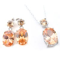 Easter Gift 2 Pieces 1 Set Champagne Morganite Gems LuckyShi...
