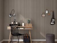 Hurtownia - zwykła ciemna szara pionowa tapeta w paski wodoodporna PCV Solid Color Wallpaper Engineering Clothing Papel de Parede Para Quarto