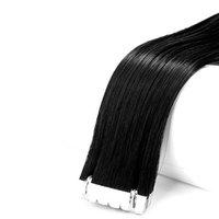 Cilt Atkı Bant Saç Uzantıları Virgin Hiçbir Kimyasal Renkli Kıvrılmış Boyalı İpeksi Düz 28 inç Olabilir