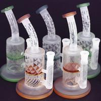 Fosco rasta reciclador tubo de água de vidro bong dab plataforma mini-plataforma de petróleo de vidro inebriante 8,5 polegadas com grande cachimbo