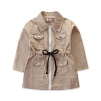 Kids Luxury Designer Clothes Baby Toddler Girls Trench Coats...