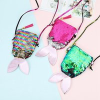 Women Mermaid Sequins Coin Purse Girls Crossbody Bags Sling ...