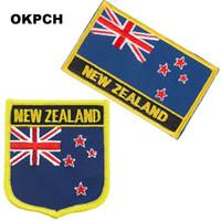 Livraison Gratuite Drapeau Nouvelle Zélande Fer À Broder Sur Patch 2pcs Par Ensemble PT0193-2