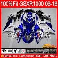 Inyección para SUZUKI GSXR1000 2009 2010 2011 2012 2014 2015 2016 16HC.1 GSXR-1000 stock azul nuevo K9 GSXR 1000 09 10 11 12 13 15 16 Carenado