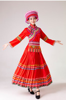 Ethnic festival clothing stage wear red dancing outfit Class...