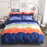 Rosy Cloud Bedding Set Colorful Kids Duvet Cover Pillowcases...