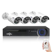 HISEEU 4CH 4MP POE Güvenlik Kamera Sistemi Kiti H.265 IP Kamera Açık Su Geçirmez Ev CCTV Video Gözetleme NVR Seti