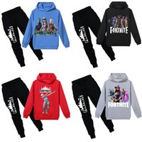 Kids Hooded Clothing Sets 16 Colors Fortnite Printed Letter ...