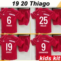 2019 2020 LEWANDOWSKI Kid Kit Soccer Jerseys MULLER ROBBEN T...