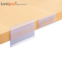 Plastic PVC Shelf Data Strips Clip Holder with Adhesive Tape...