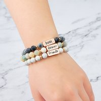 European And American Fashion Hot Couple Lettering Bracelet ...