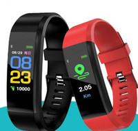 Цвет экрана ID115 Plus Smart Bractelet Fitness Tracker Шагомер Часы Band Band Rate Rate Monitor Monitor Умный браслет