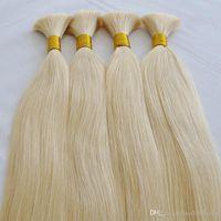 Акции Специальное предложение 100% Человеческие волосы 100 г 50см 60см Толстые заканчиваются дешевые блондинки человеческие волосы навалом на продажу сыпучих волос блондинки