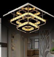 36W 크리스탈 스퀘어 천장 조명 크리 에이 티브 LED 통로 램프 복도 가벼운 광장 입구 빛 현대 간단한 크리스탈 조명 통로 램프
