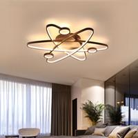 Lampadario a LED Illuminazione per soggiorno camera da letto Lustro AC85-265V lamparas de techo Lampadario moderno in alluminio a onda dimmerante