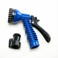 2021 LATEX 100 FT expandindo mangueira de água de jardim flexível com bico de pulverização azul