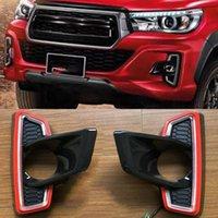 1 Paar LED Tagfahrleuchte vergilben Signal-Relais Auto 12V LED DRL Tageslicht Für Toyota Hilux Revo Rocco 2018 2019