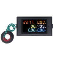 Medidores de potência CA 40.0-300.0V Tensão digital Wattímetro Consumo de energia Watt Medidor de energia de frequência Monitor de analisador de eletricidade
