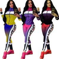 Brand Women Fall Winter Plus Size Tracksuit 2 Piece Set Jack...