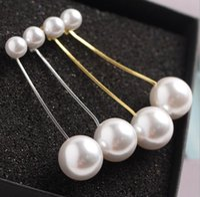8 мм + 16 мм жемчужные серьги двойной большой жемчуг с золотой серебряной коробке цепи длинные кисточкой заявление мотаться серьги Серьги для свадьбы