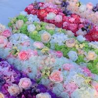 Nueva llegada elegante flor artificial filas centrales de boda carreteras Cited Mesa de flores Corredor Decoración Suministros EEE129