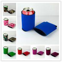 300ML kutular Kok fincan köpük bardak katlanabilir kısa sap bardak tutucu bira soğutucu çanta ile 10 renk isteğe bağlı yaratıcı kamuflaj tasarımı setleri